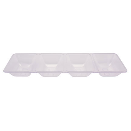 Click for larger picture of CLEAR 4 COMPARTMENT TRAY (6/CS) PARTY SUPPLIES
