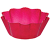 DISCONTINUED RED GLITZ FLUTED BOWL PARTY SUPPLIES