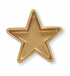 GOLD STAR SHAPED BOWL PARTY SUPPLIES