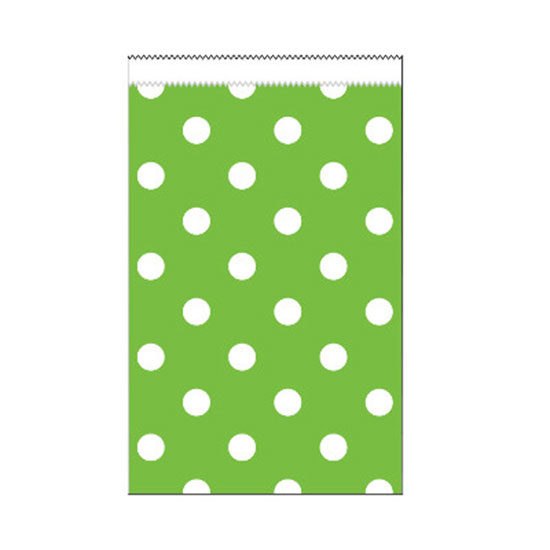 LIME DOTS SMALL PAPER TREAT BAG (240/CS) PARTY SUPPLIES
