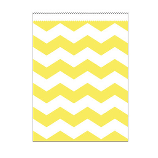 LT YELLOW STRIPE LG PAPER BAG PARTY SUPPLIES