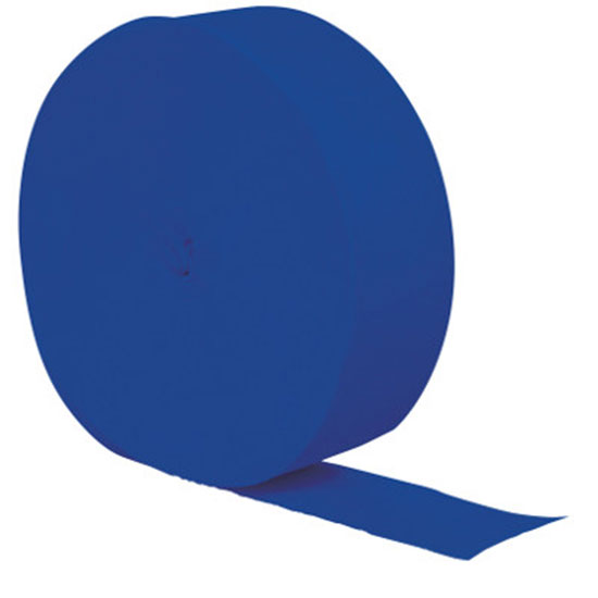 COBALT CREPE STREAMER 81 FT (12/CS) PARTY SUPPLIES