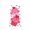 DISCONTINUED VALENTINE CUPCAKE CELLO BAG PARTY SUPPLIES
