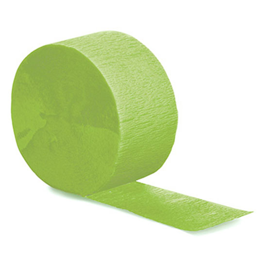 FRESH LIME CREPE STREAMER 81 FT (12/CS) PARTY SUPPLIES