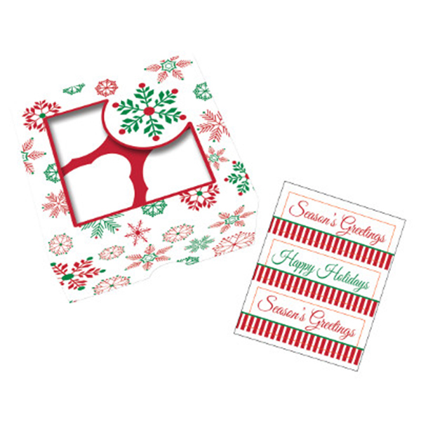 SNOWFLAKE TREAT BOXES-W/STICKERS PARTY SUPPLIES
