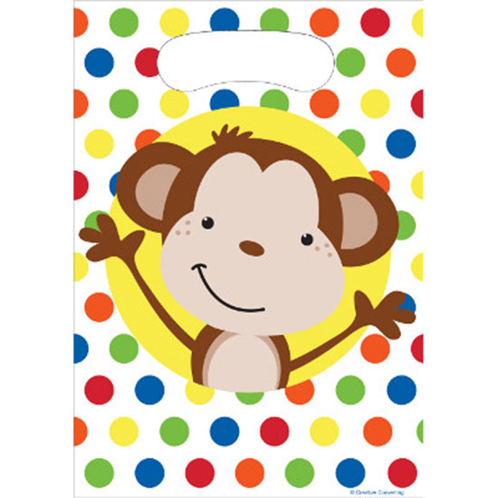 DISCONTINUED FUN MONKEY TREAT SACK PARTY SUPPLIES