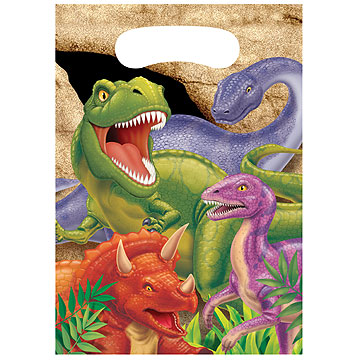 Click for larger picture of DINO BLAST TREAT BAG PARTY SUPPLIES