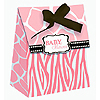 DISCONTINUED WILD SAFARI PINK FAVOR BAG PARTY SUPPLIES