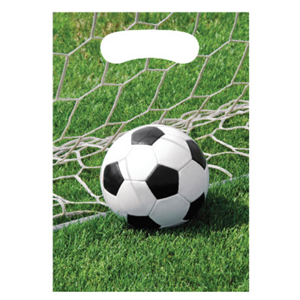Click for larger picture of SPORTS FANATIC SOCCER TREAT BAG (96/CS) PARTY SUPPLIES