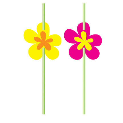 DISCONTINUED FLOWER STRAW PARTY SUPPLIES