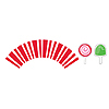 CANDYCANE CUPCAKE WRAPPERS PARTY SUPPLIES