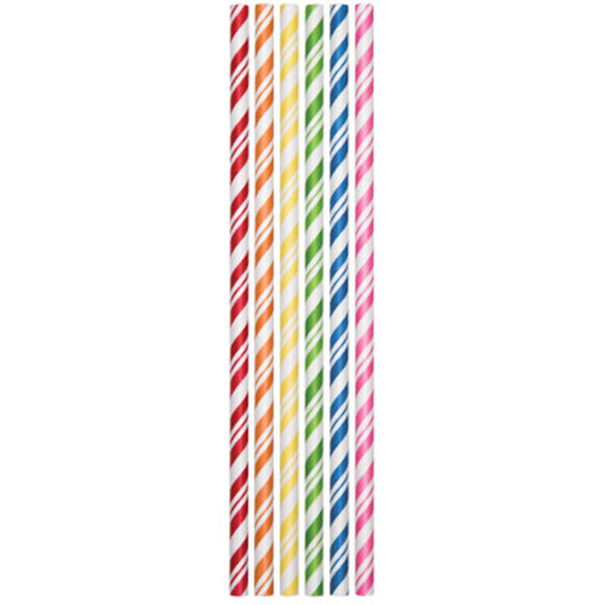ASSORTED PAPER STRAWS (144/CS) PARTY SUPPLIES