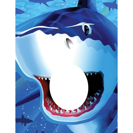 Click for larger picture of SHARK SPLASH PHOTO OP BANNER PARTY SUPPLIES