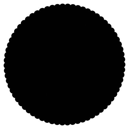 Click for larger picture of DISCONTINUED BLACK PLACEMAT CHARGER PARTY SUPPLIES