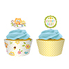 HAPPI TREE CUPCAKE PICKS & WRAPPERS PARTY SUPPLIES