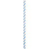 LT BLUE-WHITE PAPER STRAWS (144/CS) PARTY SUPPLIES