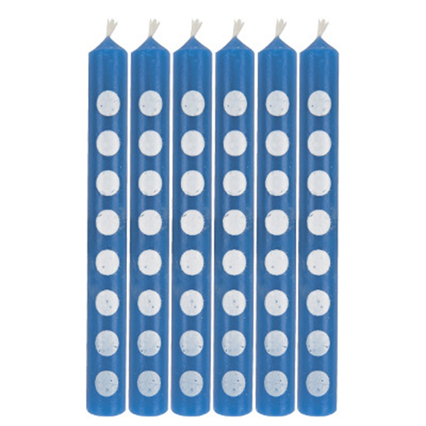Click for larger picture of ROYAL BLUE CANDLES PARTY SUPPLIES