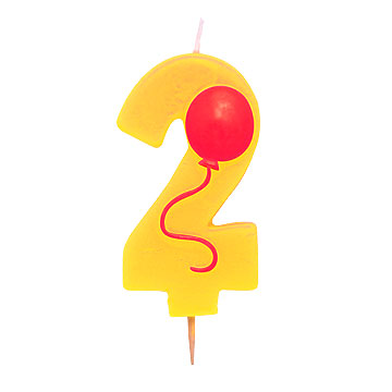 Click for larger picture of #2 CANDLE NUMERAL BALLOON 2 PARTY SUPPLIES