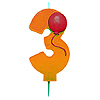 NUMBER 3 BALLOON CANDLE (6/CS) PARTY SUPPLIES