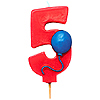 NUMBER 5 BALLOON CANDLE (6/CS) PARTY SUPPLIES