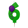 NUMBER 6 BALLOON CANDLE (6/CS) PARTY SUPPLIES