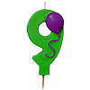 NUMBER 9 BALLOON CANDLE (6/CS) PARTY SUPPLIES