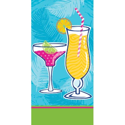 SUMMER DRINKS SWANKIE HANKIES (120/CS) PARTY SUPPLIES