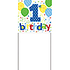 1ST BIRTHDAY BOY YARD BANNER (6/CS) PARTY SUPPLIES