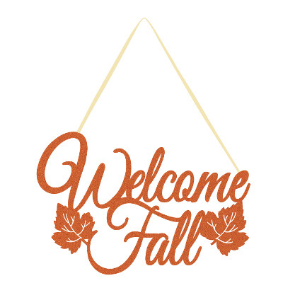 DISCONTINUED WELCOME FALL GLITTER SIGN PARTY SUPPLIES