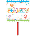 Click for larger picture of DISCONTINUED FLZ CUMPL YARD SIGN PL PARTY SUPPLIES
