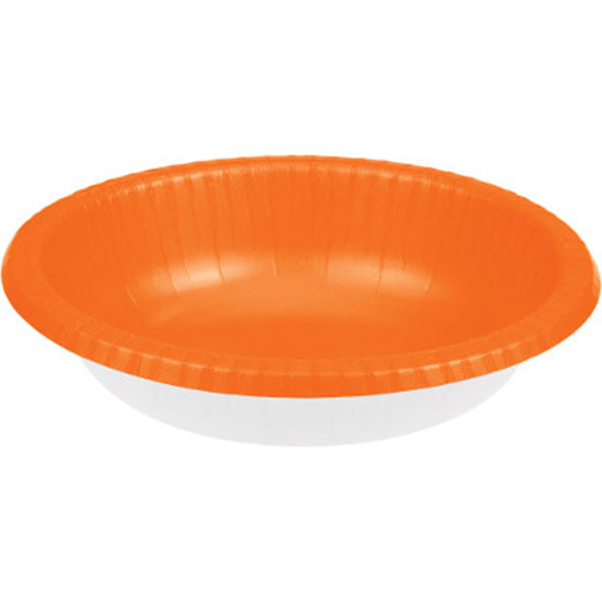 ORANGE 20 OZ PAPER BOWL (200/CS) PARTY SUPPLIES