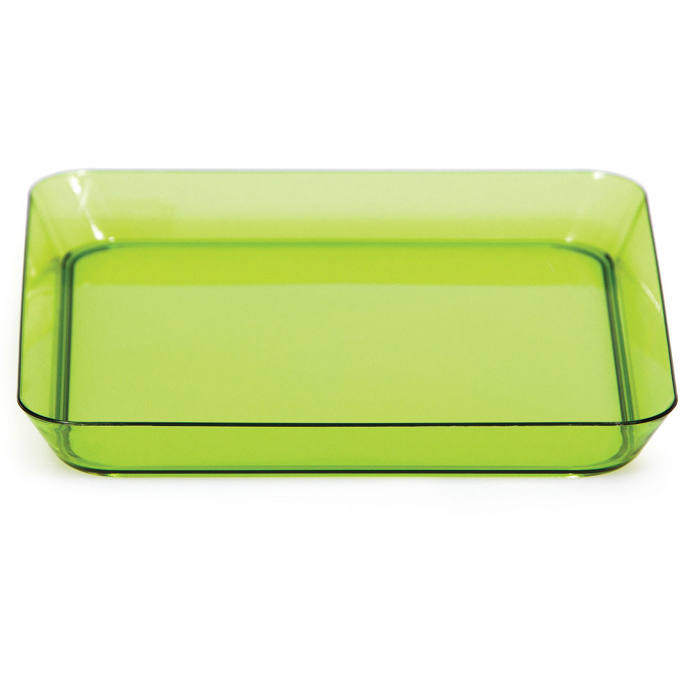Click for larger picture of GREEN 5 IN. PLASTIC SQUARE PLATE(96/CS) PARTY SUPPLIES