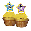 DISCONTINUED ZOU CUP CAKE TOPPERS PARTY SUPPLIES