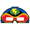DISCONTINUED SUPERHERO FUN! MASKS 3-D PARTY SUPPLIES