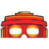 DISCONTINUED PARTY 'BOTS PAPER MASKS 3-D PARTY SUPPLIES
