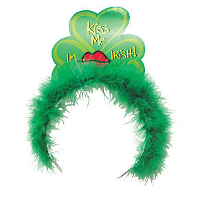 Click for larger picture of TIARA W/MARABOU ST PAT DAY (12/CS) PARTY SUPPLIES