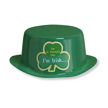 Click for larger picture of PLASTIC HAT ST PAT (12/CS) PARTY SUPPLIES