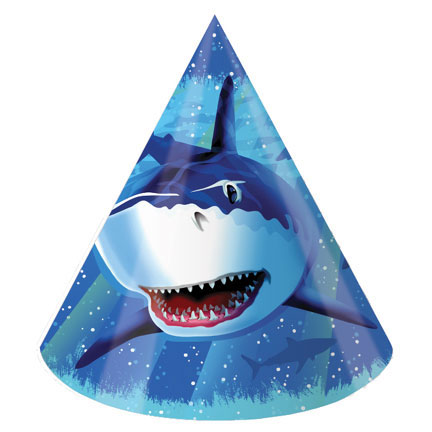 Click for larger picture of SHARK SPLASH PARTY HATS PARTY SUPPLIES