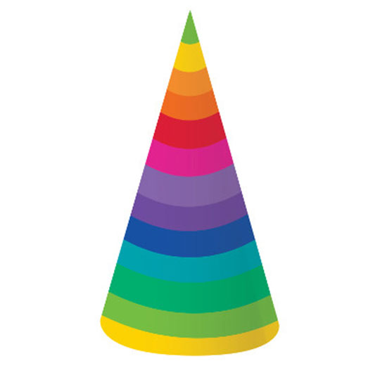 RAINBOW PARTY PARTY HATS PARTY SUPPLIES