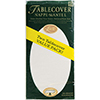 LINETTE - WHITE TABLECOVER (72/CS) PARTY SUPPLIES