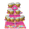 DISCONTINUED PINK LUAU FUN TIERED SERVER PARTY SUPPLIES