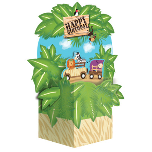 Click for larger picture of DISCONTINUED SAFARI ADVENTURE CENTERPCE PARTY SUPPLIES