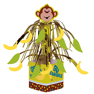 Click for larger picture of MONKEYIN' AROUND MINI CENTERPIECE (6/CS) PARTY SUPPLIES