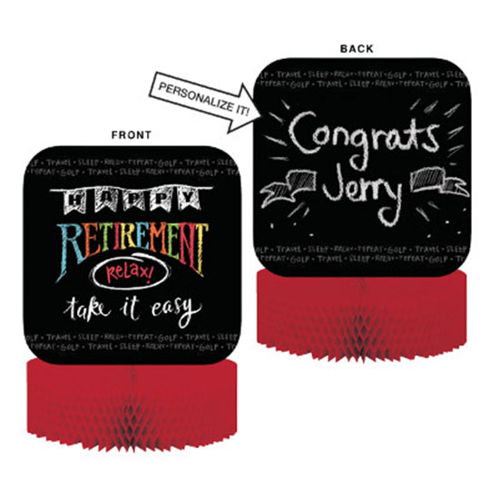 RETIREMENT CHALK CENTERPIECE PARTY SUPPLIES