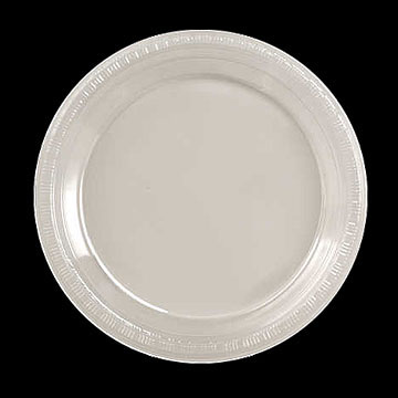 Click for larger picture of CLEAR 7 & bulk clear plastic plates cutlery party supplies - clear 7 plastic ...