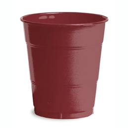 Click for larger picture of BURGUNDY 12OZ PLASTIC CUP (240/CS) PARTY SUPPLIES