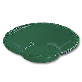 Click for larger picture of HUNTER GREEN  12OZ PLASTIC BOWL (240/CS) PARTY SUPPLIES