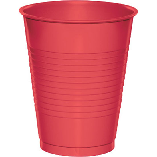 16 OZ. CORAL PLASTIC CUP (20 CT.) PARTY SUPPLIES