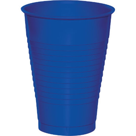 12 OZ. COBALT PLASTIC CUP (20 CT.) PARTY SUPPLIES