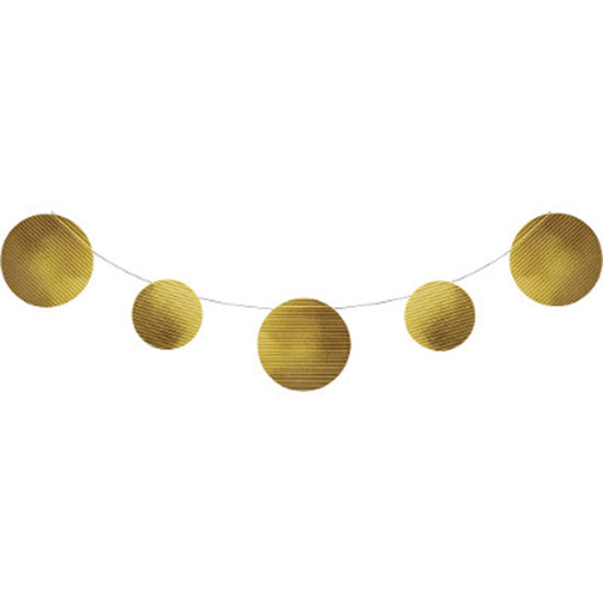GOLD FOIL EMBOSSED BANNER (6/CS) PARTY SUPPLIES